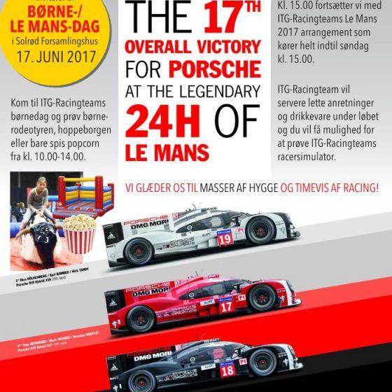 Børne Le Mans dag Flyer